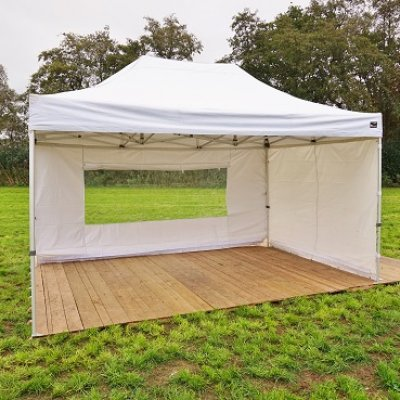 Bos Verhuur Partytent huren tent Pop up 3x4.5 meter wit