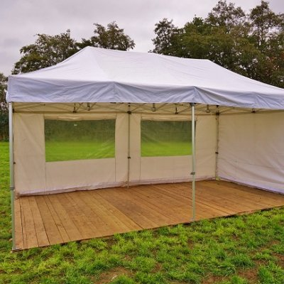 Bos Verhuur Partytent huren tent Pop up 3x6 meter wit